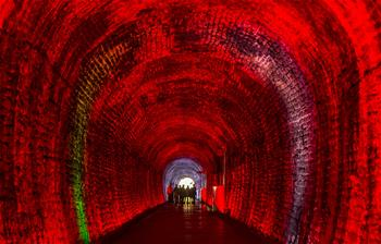 In pics: colorful Brockville Railway Tunnel in Ontario, Canada
