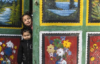 Shubaigou villagers paint doors as celebration to usher in Lunar New Year