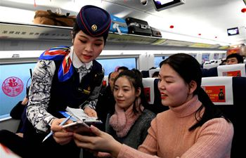 Pic story: attendant gets ready for her 1st Spring Festival travel rush work