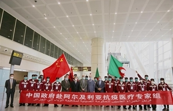 Chinese medical experts arrive in Algeria to help fight COVID-19