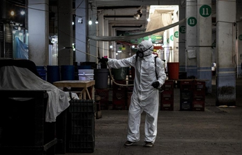 Workers disinfect markets amid COVID-19 outbreak in Mexico