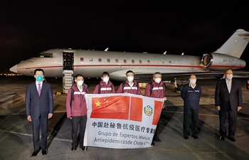 Chinese medics arrive in Lima to help Peru fight against COVID-19 pandemic