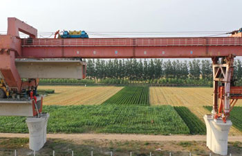 Beijing-Tangshan intercity railway under construction