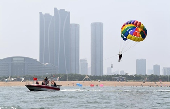 People enjoy their time in Rizhao, Shandong