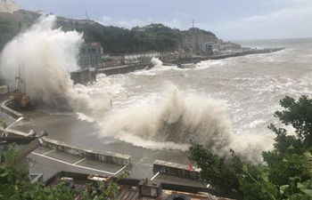Typhoon Hagupit lands in east China's Zhejiang