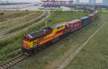 Cargo train carrying anti-epidemic supplies leaves China's Xi'an for Italy