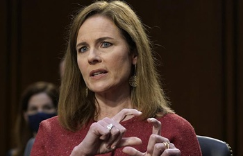 U.S. Supreme Court nominee Amy Coney Barrett attends confirmation hearing