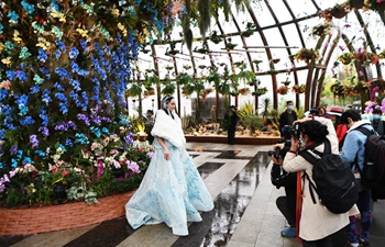 Floral art expo kicks off in Chongqing