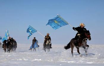 "Kazakh riders take part in challenge of ""My Flag, My Homeland"""