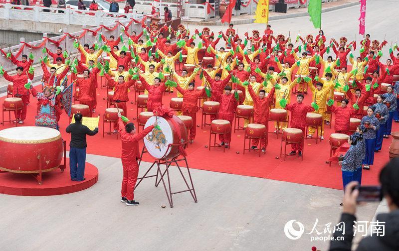 河南三门峡奇米影视视频免费播放:80面大鼓同响 再现千年惊蛰盛典