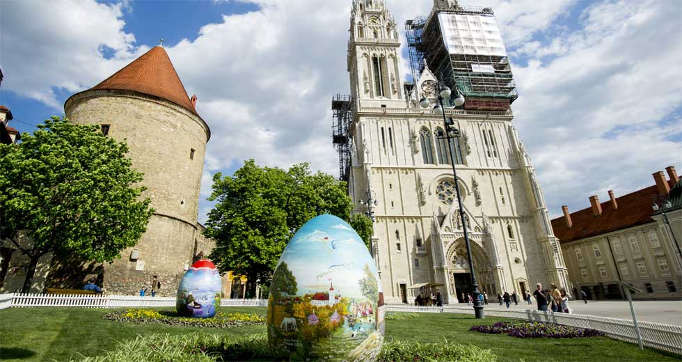 組圖:復活節彩蛋亮相薩格勒布街頭