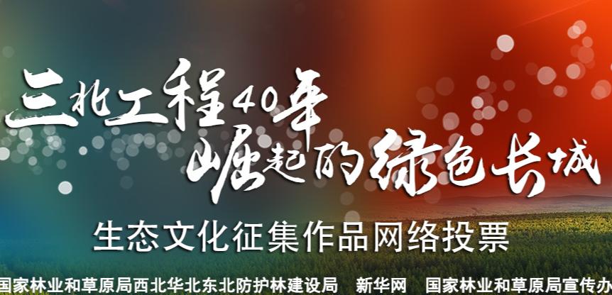 三北工程40年文化徵集作品網絡投票