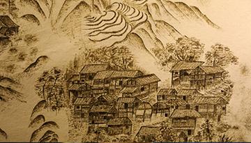中國丹寨非遺周活動上苗族蠟染技藝展示