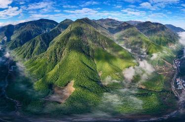 雲遮霧繞的武夷黃岡