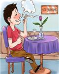無視禁煙標志區,他人健康全不管