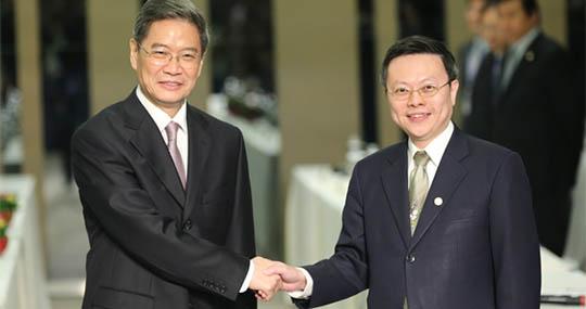 組圖:張志軍王鬱琦在臺灣舉行第二次正式會面