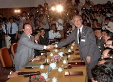 """1993年""""汪辜會談"""":開啟兩岸兩會制度化協商"""