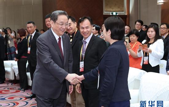 俞正聲會見出席第九屆海峽論壇兩岸各界人士