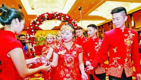兩岸百位新人在海峽論壇上舉行集體婚禮