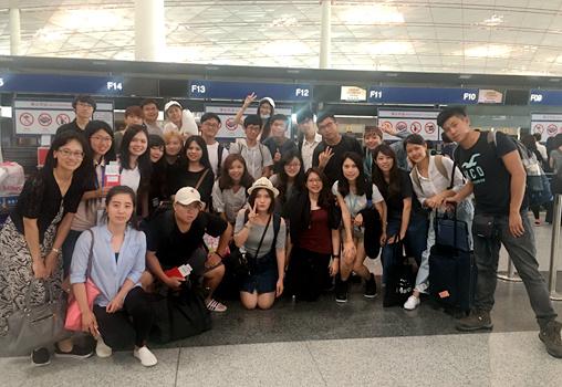 参与活动的台湾大学生离京前合影