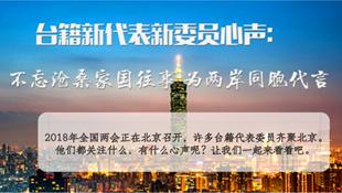臺籍新代表新委員:為兩岸同胞代言