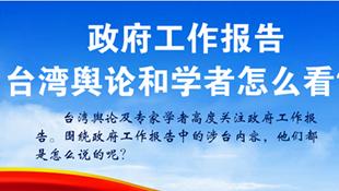 臺灣輿論及專家學者看政府工作報告
