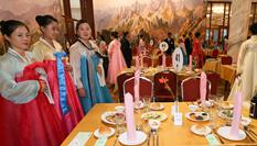 朝韓離散家屬在朝鮮金剛山共進晚餐