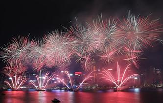 香港舉行國慶煙花匯演