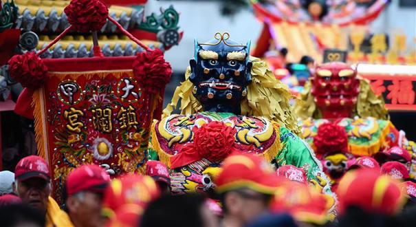 臺中大甲媽祖首赴臺北繞境祈福 打造光影科技互動展