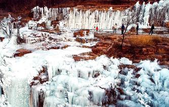 壯觀的太行冰瀑