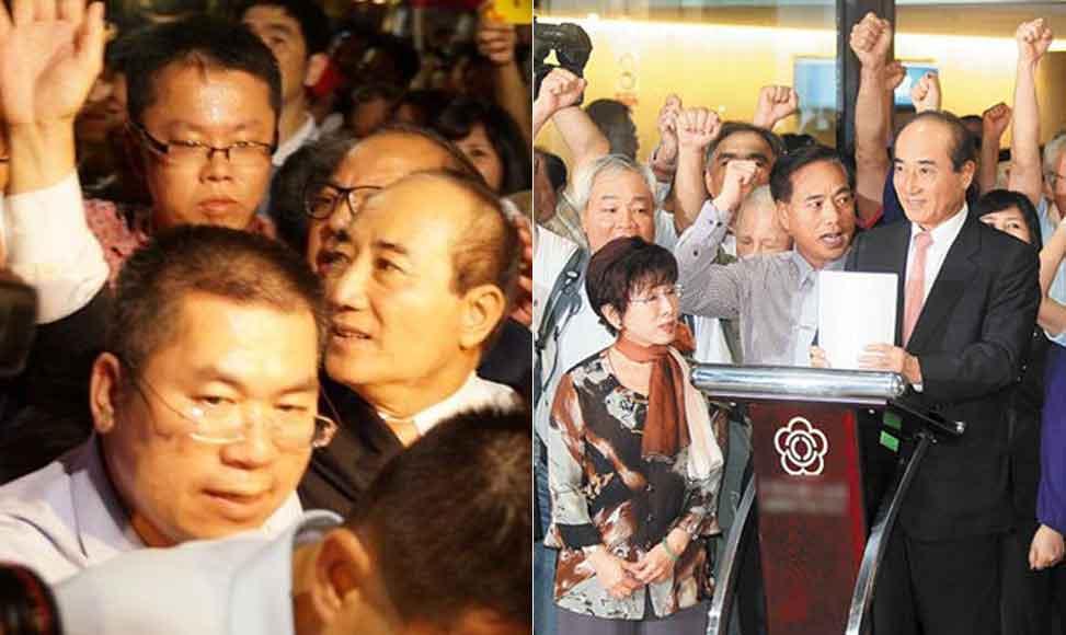 王金平返臺機場記者會場面熱烈