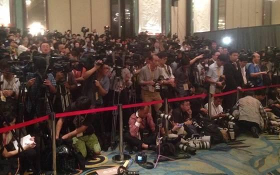 兩岸領導人會面現場記者嚴陣以待