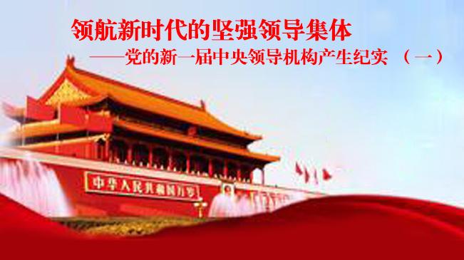 黨的新一屆中央領導機構産生紀實(一)