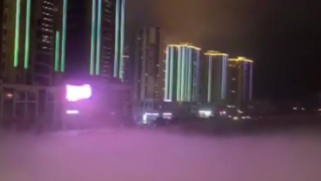 重慶:烏江武隆段現平流霧景觀