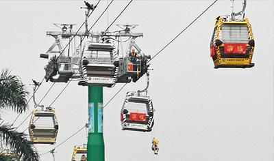 索道飛渡 空中垂降 直擊高空客運索道應急救援演練