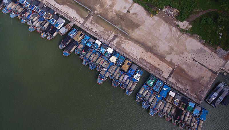 海口:船舶回港避臺風