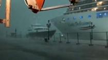 意大利:威尼斯又現驚險一幕 郵輪險些撞岸