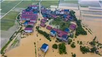 江西新余暴雨成災 航拍直擊洪災現場