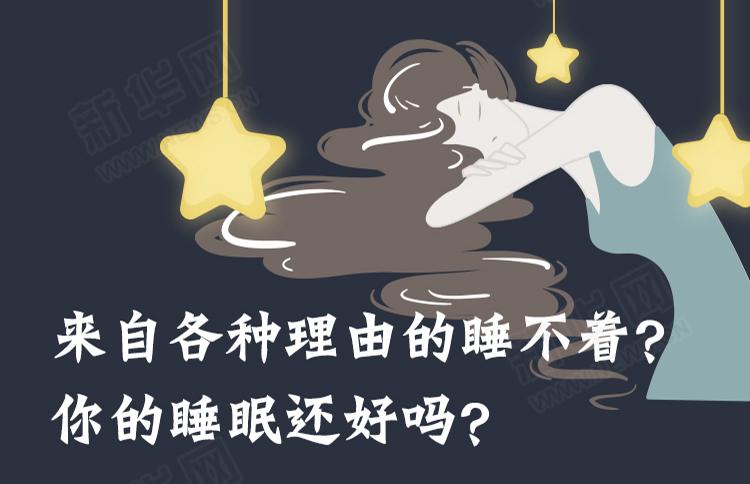 來自各種理由的睡不著?你的睡眠還好嗎?