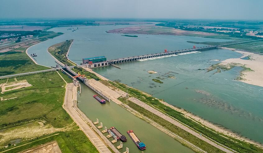 引江濟漢——航拍湖北潛江興隆水利樞紐