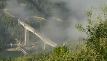 雲南:大臨鐵路瀾滄江雙線大橋合龍