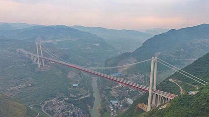 震撼航拍|川黔大通道赤水河紅軍大橋全面建成