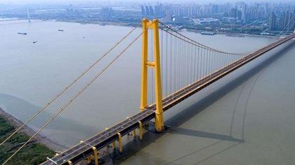 湖北武漢:長江上首座雙層公路大橋通車