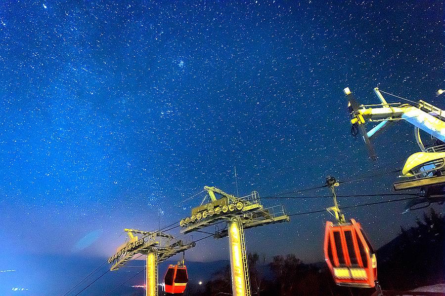 延時攝影:璀璨星河下的中國·亞布力