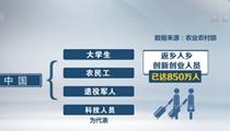 中國各類返鄉入鄉創業創新人員超850萬