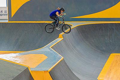 國際自由式小輪車賽開賽 各地高手齊聚湖北潛江