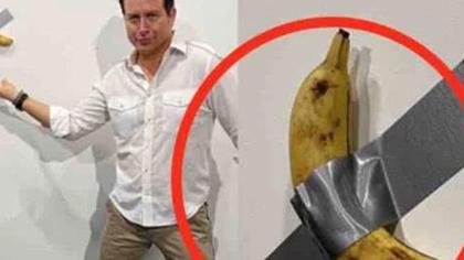 """香蕉成藝術品?""""天價香蕉""""當場被吃"""