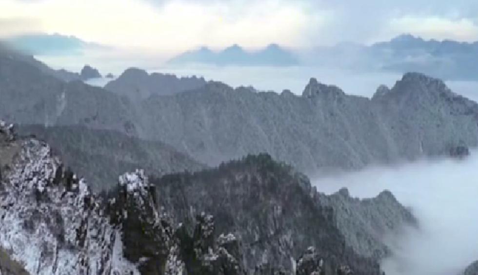 湖北:神農架雪景唯美 動物們悠閒玩耍