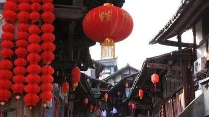 安徽歙縣:紅燈籠高高挂 古城年味兒濃