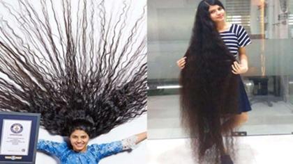 刷新!190厘米 印度少女頭發長度創世界紀錄